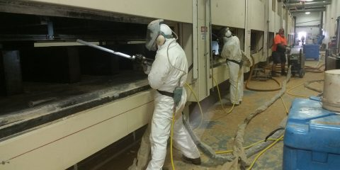 Dry Ice Blasting of Laminex Ovens