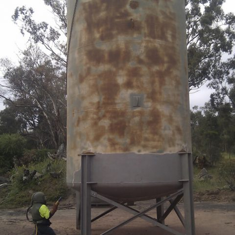 Stawell Gold Mine Sandblast and Paint